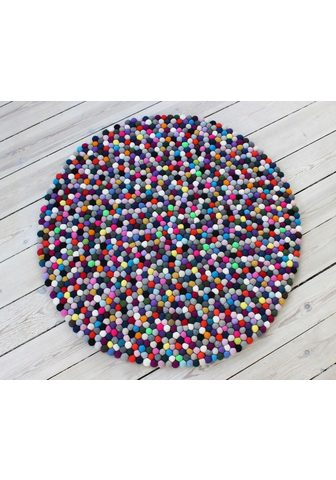 WOOLDOT Vilnonis kilimas »Mixed Color« ovali a...