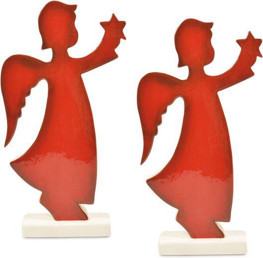 Engelfigur »Stern« (Set, 2 Stück, bestehend aus 2 Engeln)
