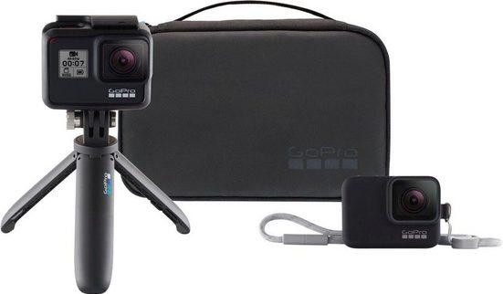 GoPro »HERO 7 black + Travel kit« Action Cam (4K Ultra HD, Bluetooth, WLAN (Wi-Fi), Travel Kit)