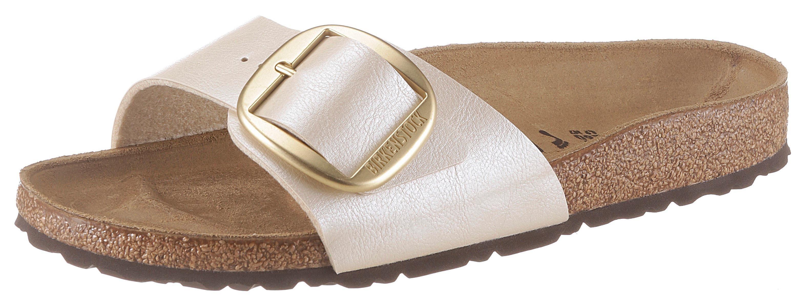 Birkenstock »Madrid« Pantolette mit auffälliger Schnalle, schmale Schuhweite