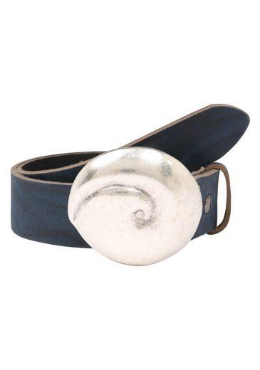 RETTUNGSRING by showroom 019° Ledergürtel »Wasserbüffel mit austauschbarer Muschel-Schließe«