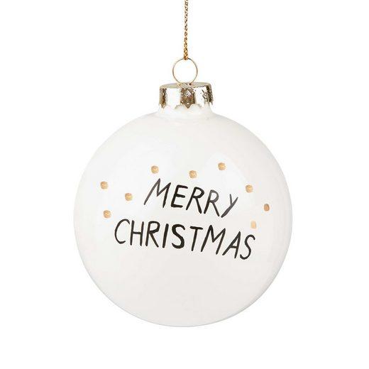BUTLERS HANG ON »4x Weihnachtskugel XMAS Ø 8 cm«