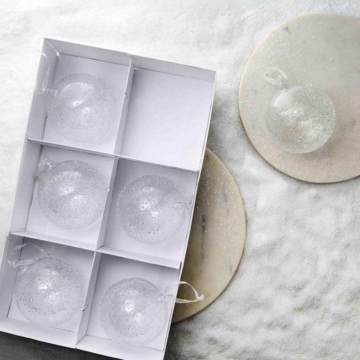 BUTLERS HANG ON »6 x Glaskugel gesprenkelt Ø 8 cm«