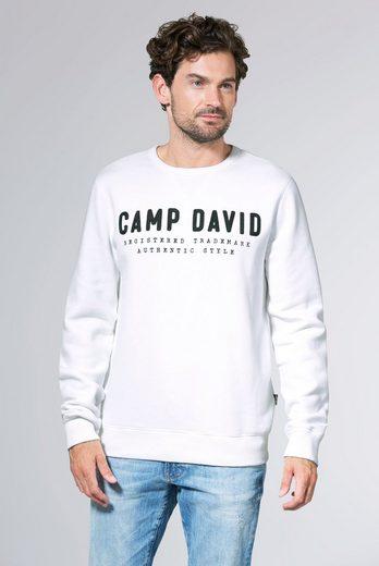 CAMP DAVID Sweater mit Logo-Stickerei