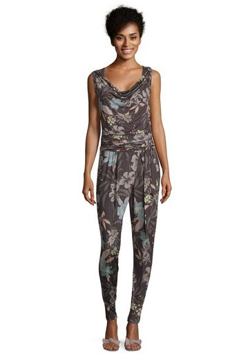 Cartoon Jumpsuit mit Blumenprint