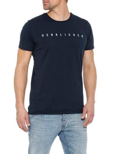 Herrlicher T-Shirt mit Marken-Print