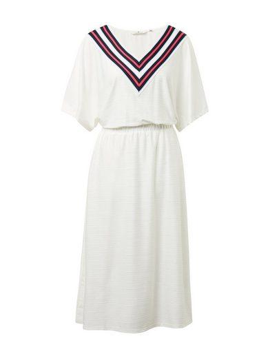 TOM TAILOR Denim Jerseykleid »Kleid mit Kontrastblende«