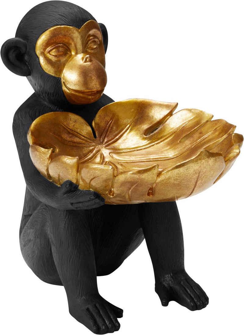 Leonique Dekofigur »Affe mit Schale«