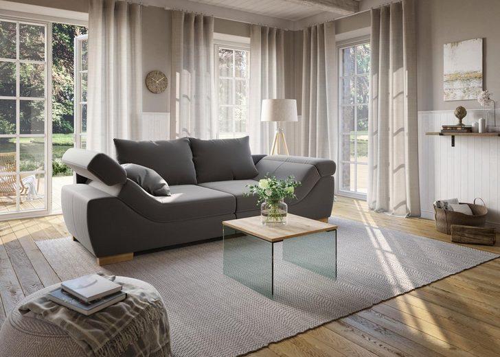 Home affaire Big-Sofa »Marrakesch« in 2 Größen mit Kopfteilverstellung in Rutschen-Armlehne