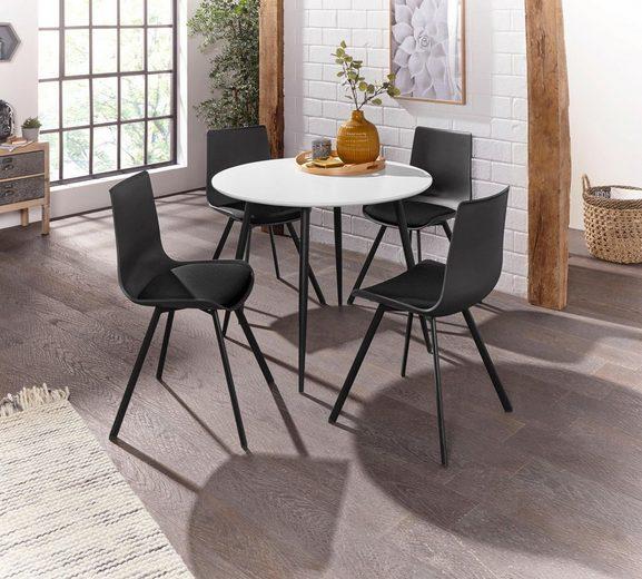 Essgruppe »Dino 2 - Lucky« mit rundem Esstisch und 4 Stühlen