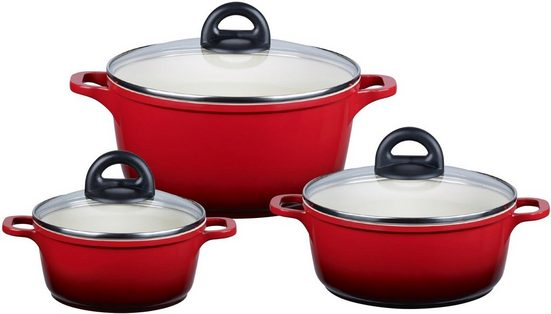 Elo - Meine Küche Topf-Set »Red Shadow«, Aluminiumguss, (Set, 6 tlg), Induktion