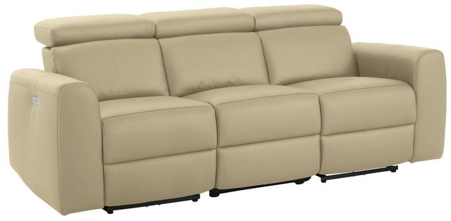 Sofas - Home affaire 3 Sitzer »Sentrano«, wählbar zwischen manueller oder motorischer Relaxfunktion mit USB Anschluß, auch in NaturLEDER  - Onlineshop OTTO