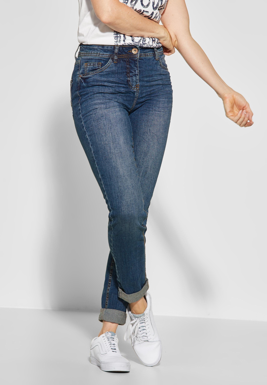 Cecil Slim fit Jeans 5 Pockets Style, High Rise und Slim Legs online kaufen | OTTO