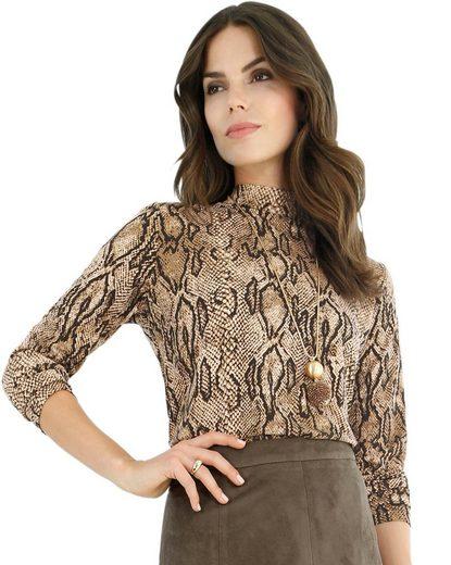 Lady Shirt im modischen Reptil-Print