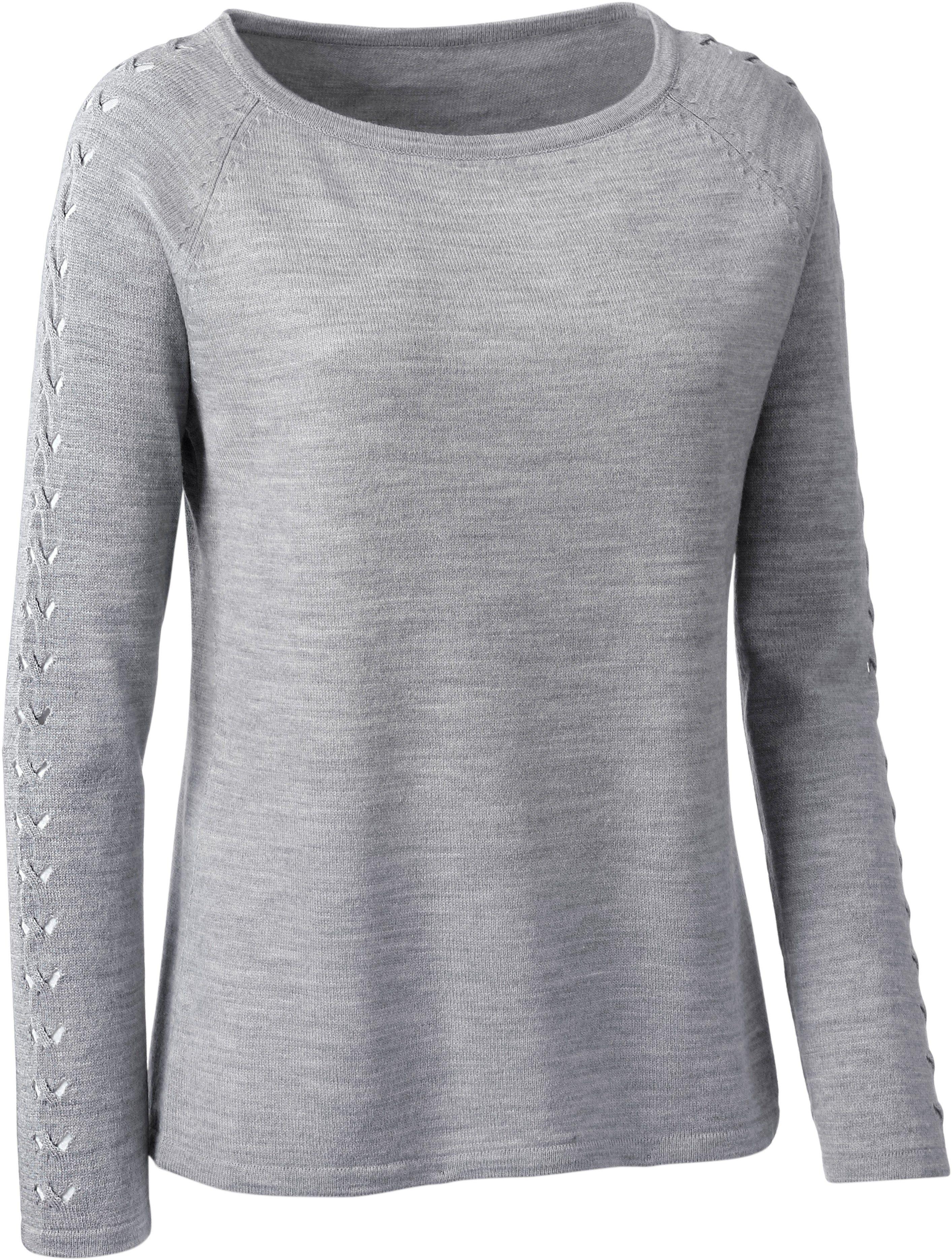 edc By Esprit – Pullover mit Norweger Dessin – Silber meliert