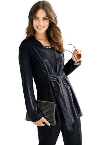 Пиджак-рубашка в имитация замша