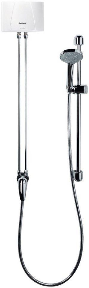 CLAGE Kleindurchlauferhitzer »Duschanlage MBX 4-6 Shower«, E-Kleindurchlauferhitzer-Set | Baumarkt > Heizung und Klima > Durchlauferhitzer | Clage