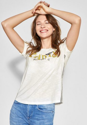 STREET ONE T-Shirt mit Print und Karos