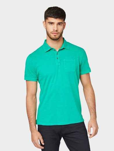 TOM TAILOR T-Shirt »Meliertes Polo-Shirt«