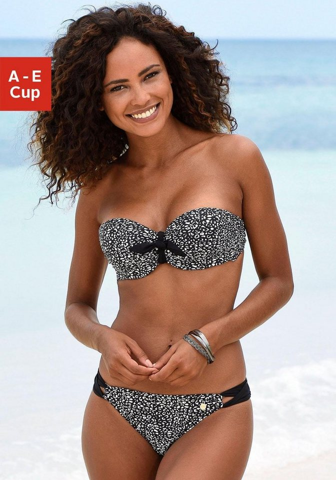 Bademode - LASCANA Bandeau Bikini Top »Leo«, Zierschleife vorn ›  - Onlineshop OTTO