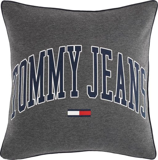 Kissenhülle »Outline Font«, Tommy Jeans (1 Stück), mit navyfarbener Paspel