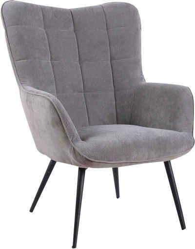 Homexperts Sessel »ULLA« (1-St), wahlweise mit oder ohne Hocker