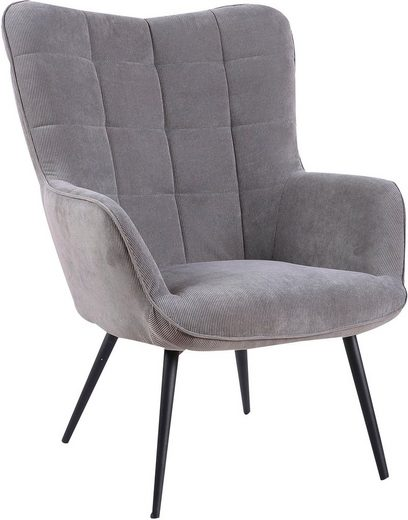 Homexperts Sessel »Ulla« (1-tlg), wahlweise mit oder ohne Hocker