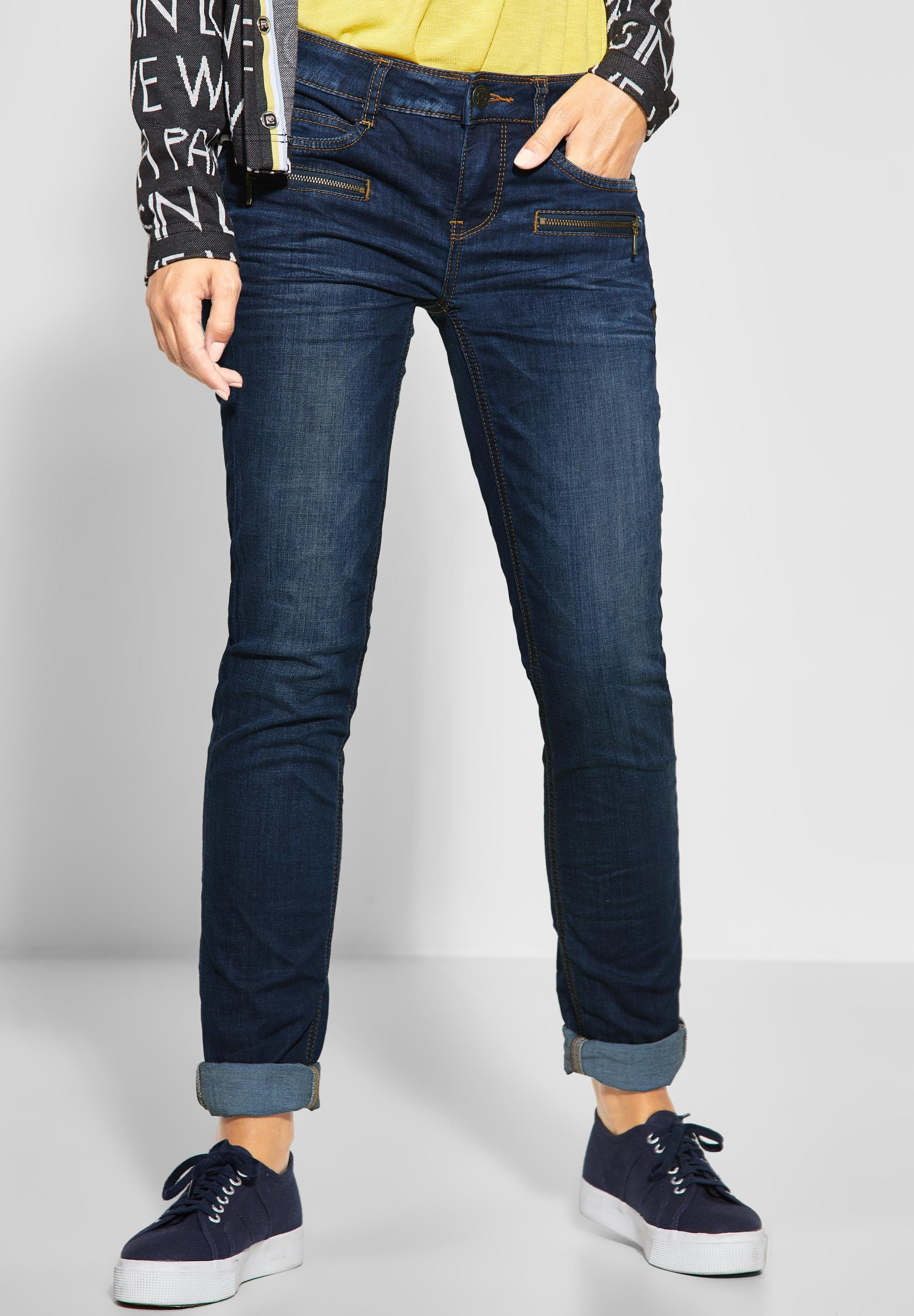 STREET ONE Comfort fit Jeans mit Crinkles, Casual Fit Denim online kaufen | OTTO