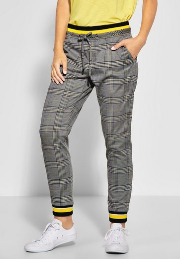 STREET ONE Jogger Pants mit Glencheck-Muster