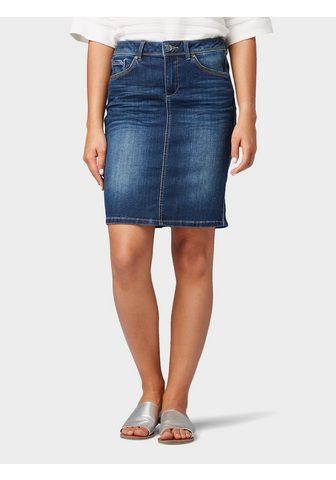 TOM TAILOR Юбка джинсовая джинсовая юбка с c боку...