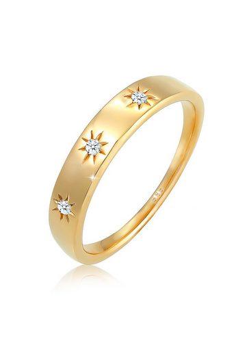 Diamore Diamantring »Verlobung Stern Astro Diamant 0.06 ct. 585 Gelbgold«
