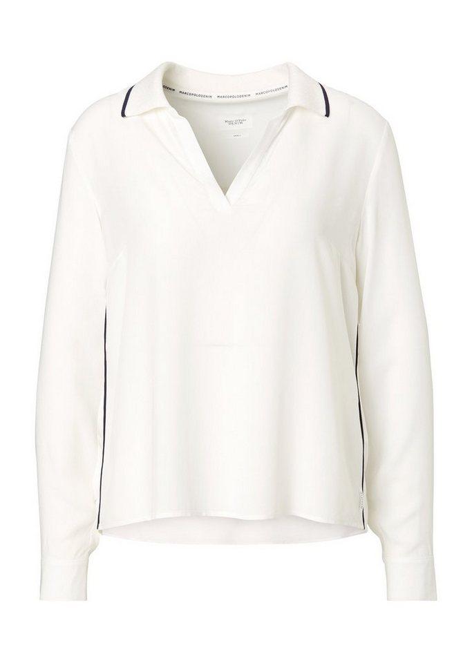 wide varieties new lower prices los angeles Marc O'Polo DENIM Shirtbluse, Sportiv designte Bluse mit Kontrast-Details  online kaufen | OTTO