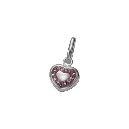 Vivance Anhänger »925/- Sterling Silber Herz Kristalle«