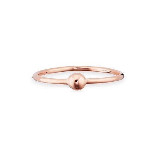 CAÏ Ring »925/- Sterling Silber rotvergoldet Kugel«