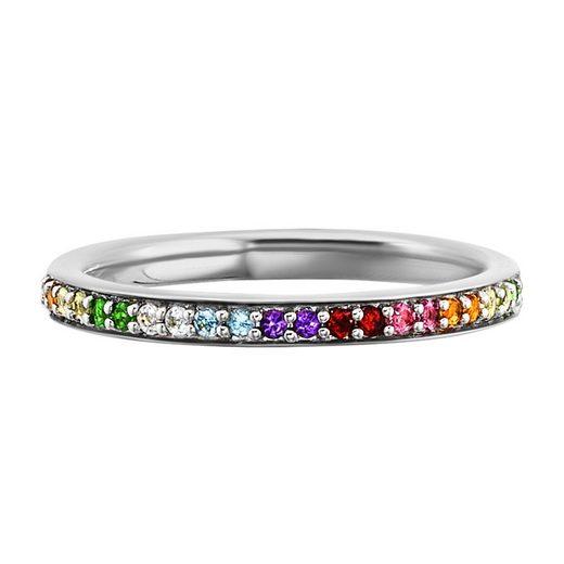 CAÏ Ring »925/- Sterling Silber rhodniert Echtsteine«