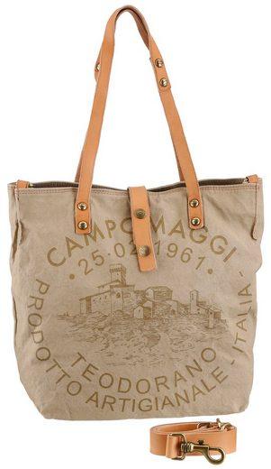 Campomaggi Shopper »MORO«, mit schickem Druck und stylischen Lederapplikationen