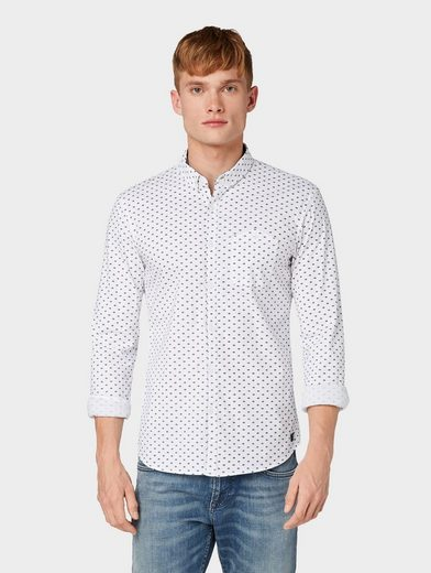 TOM TAILOR Denim Hemd »Hemd mit Allover-Print«