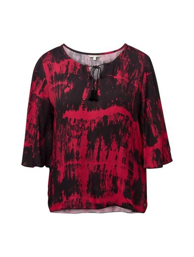 TOM TAILOR Denim Shirtbluse »Bluse im Tie-Dye Look«