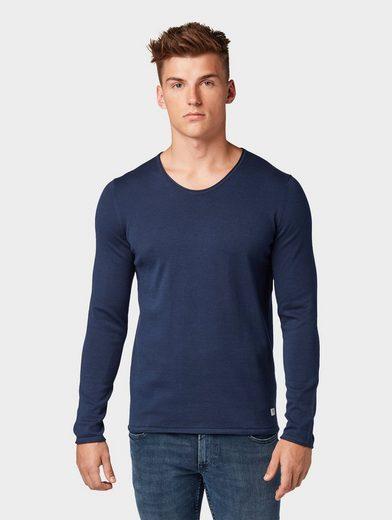 TOM TAILOR Denim V-Ausschnitt-Pullover »Strickpullover«