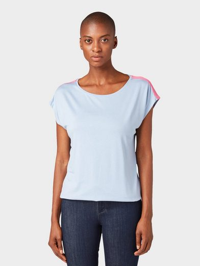 TOM TAILOR T-Shirt »T-Shirt mit Tape-Detail«