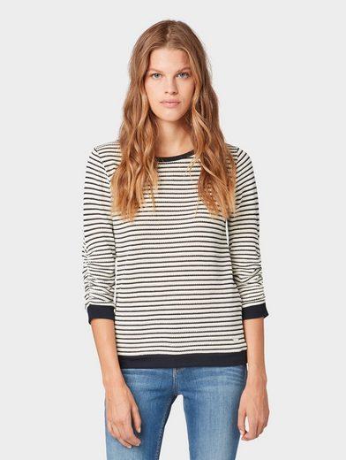 TOM TAILOR Denim Sweatshirt »Gestreiftes Sweatshirt«