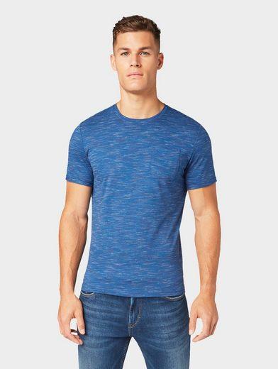 TOM TAILOR T-Shirt »Gestreiftes Melange T-Shirt«