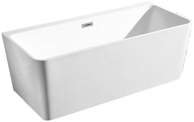 Badewannen und Whirlpools - welltime Badewanne »Granada«, (4 tlg), B T 160 74 cm, freistehende Wanne  - Onlineshop OTTO