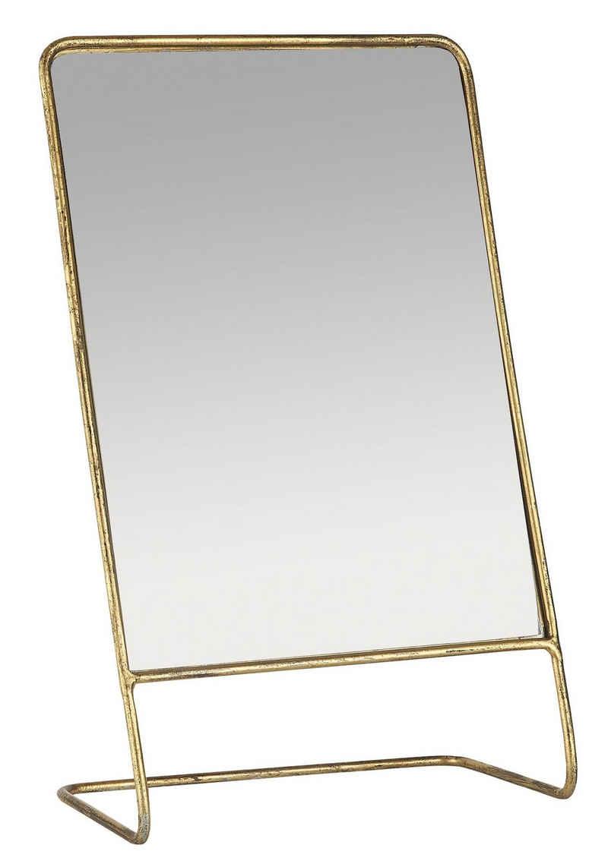 Ib Laursen Spiegel »Spiegel Stehend Schminkspiegel Tischspiegel Messing Metall Ib Laursen 31072-17«
