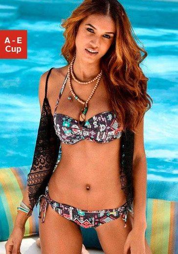 LASCANA Bandeau-Bikini-Top »Kati«, mit seitlichen Stäbchen