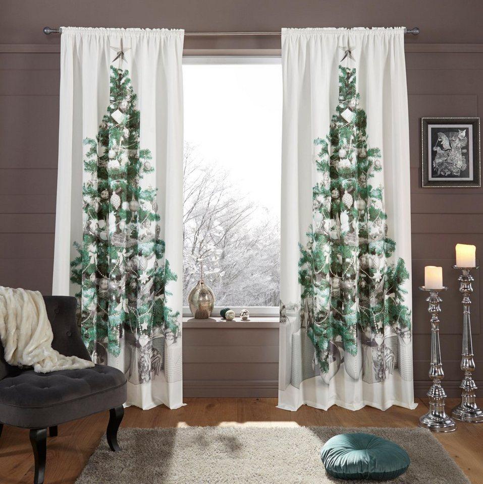 Otto Weihnachtsdeko.Vorhang Tannenbaum My Home Stangendurchzug 1 Stuck Weihnachtsdeko Online Kaufen Otto