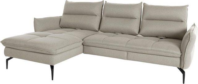 exxpo - sofa fashion Ecksofa| mit Armlehn- und Sitztiefenverstellung | Wohnzimmer > Sofas & Couches > Ecksofas & Eckcouches | Webstoff | exxpo - sofa fashion
