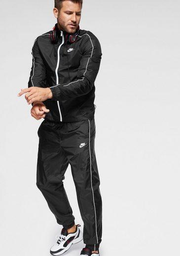 Nike Sportswear Trainingsanzug »M NSW CE TRK SUIT WVN BASIC« (Set, 2-tlg), Kontrastdetails
