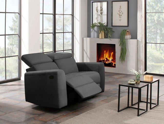 Sofas - Home affaire 2 Sitzer »Sentrano«, wählbar zwischen manueller oder motorischer Relaxfunktion mit USB Anschluß, auch in NaturLEDER  - Onlineshop OTTO