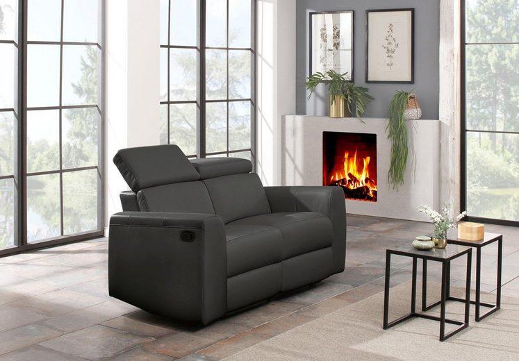 Home affaire 2-Sitzer »Sentrano« wählbar zwischen manueller oder motorischer Relaxfunktion, auch in Naturleder erhältlich